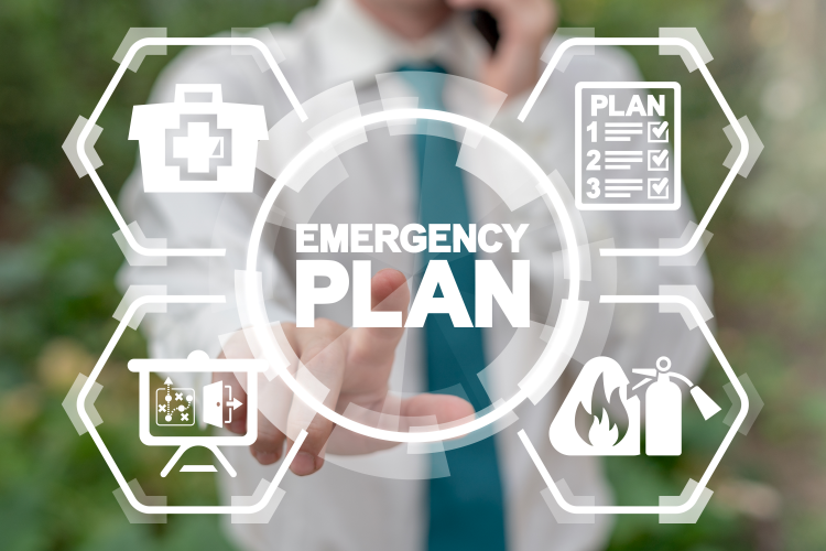 Graphic of an emergency plan